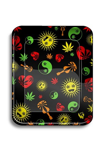 Rolling Tray 'Weed Shapes'