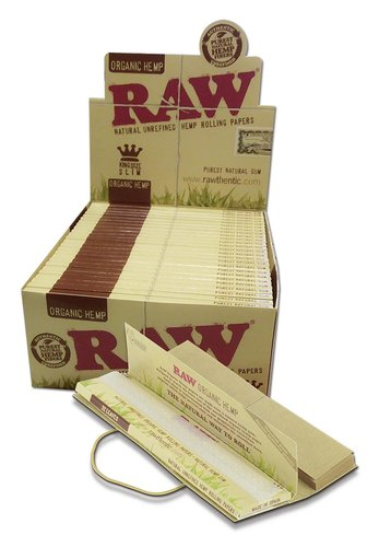 'RAW Connoisseur' Organic Hemp Papers KS Slim+Tips