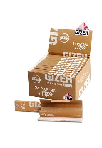 'Gizeh' 'Pure' Bio-Hanf Papers KS Slim + Tips