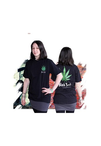 'Black Leaf' T-Shirt Cannabis