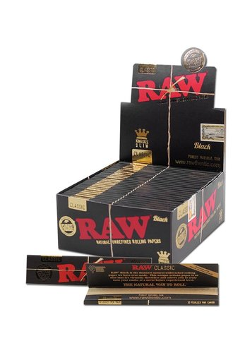 'Raw' 'Black' Papers King Size Slim Extra Fine