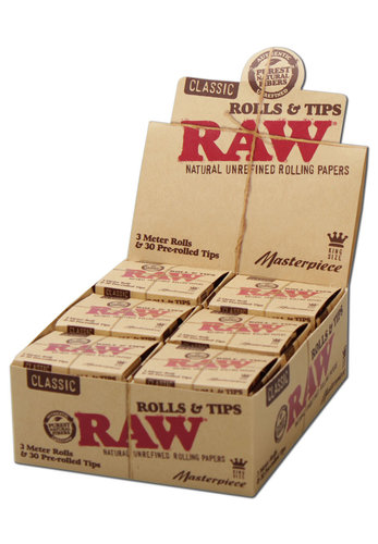 'Raw' Masterpiece Rolls Zigarettenpapier Tips vg.