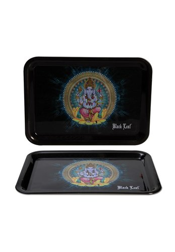'Black Leaf' Mixing Tray 'Ganesha'